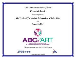 ABC's of ART - M2 Overview of Infertility