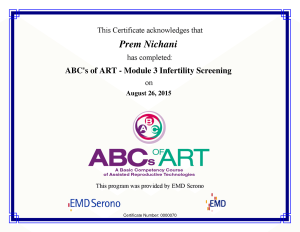 ABC's of ART - M3 Infertility Screening