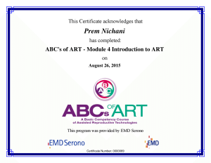 ABC's of ART - M4 Intro. to ART