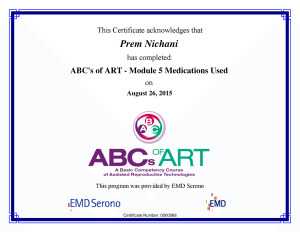 ABC's of ART - M5 Medications Used