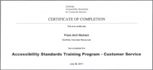 Accessibility Standards Training Program