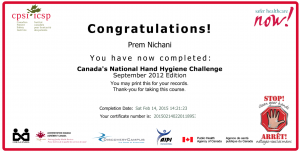 Canadian Patient Safety Institute - Hand Hygiene