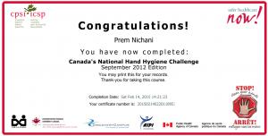 Canadian Patient Safety Institute - Hand Hygiene