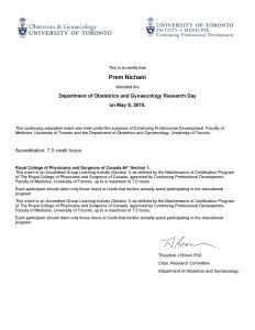 OB-GYN Research Day 2015