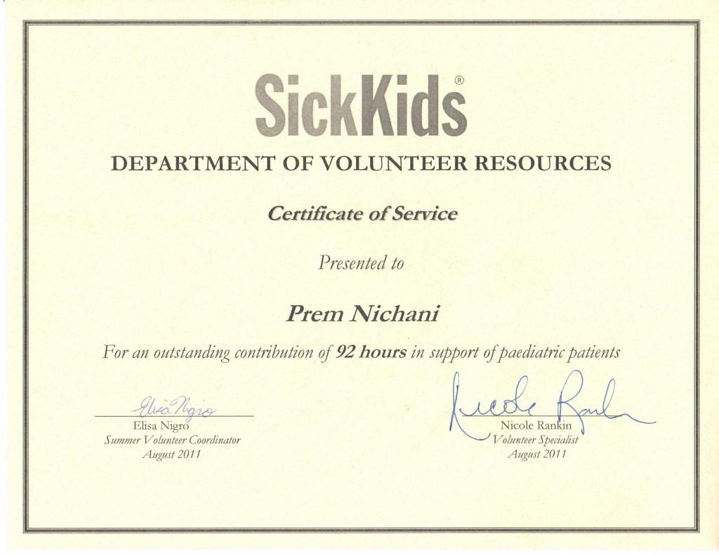 SickKids 2011