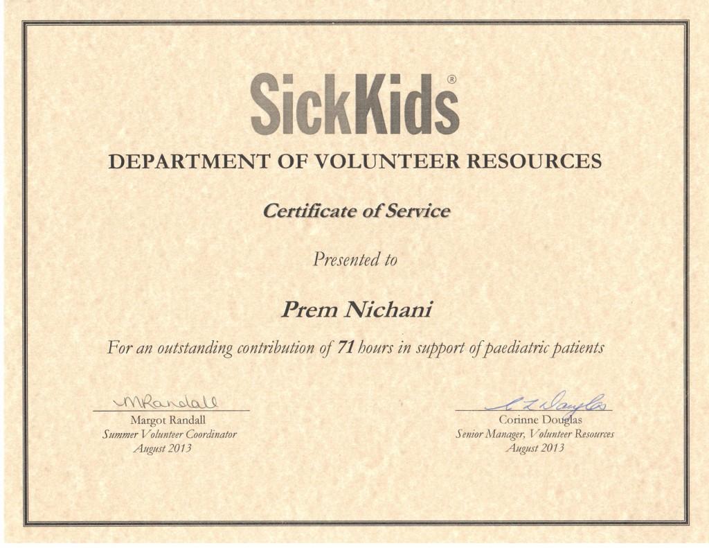 SickKids 2013