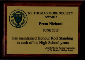 St. Thomas Moore Award - SMC 2013
