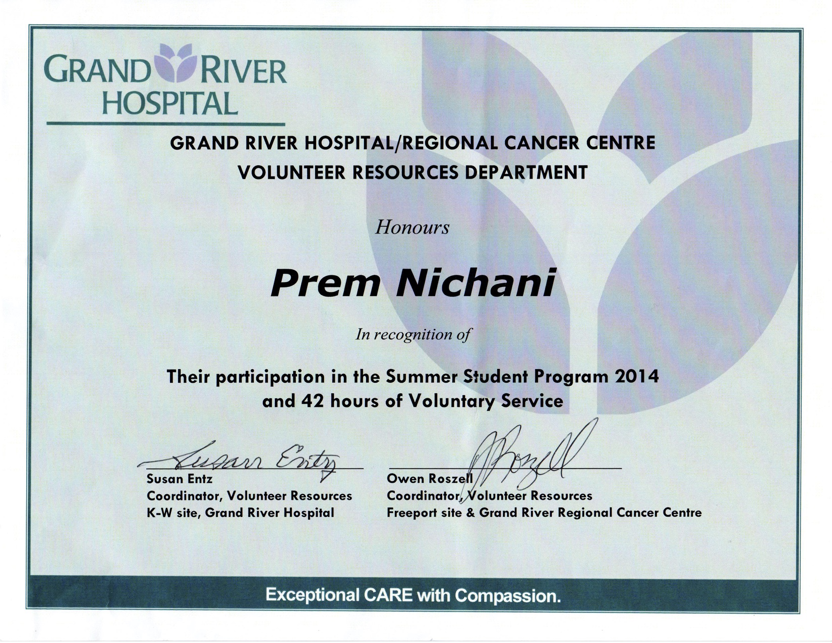 Grand River Hospital – Prem Nichani